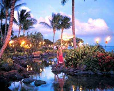 The Hawaiian torch lighting ceremony is an ancient tradition. & The Grand Hyatt Kauai Resort and Spa | Splash Magazines | Los Angeles