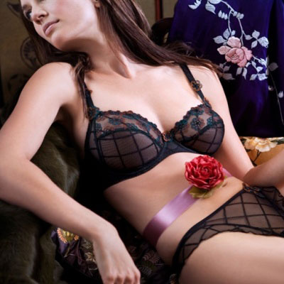 Black Nara Bra and Hot Pants from Prima Donna Autumn Winter 2007 Collection fd1ddb41b