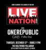 OneRepublic at the Hollywood Palladium Ticket Giveaway