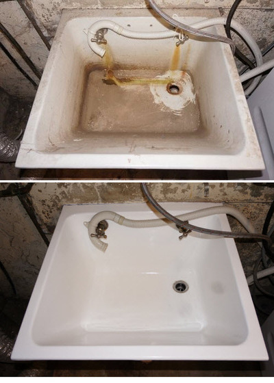 Pkb reglazing review a proud family business splash magazines laundry sink before after workwithnaturefo