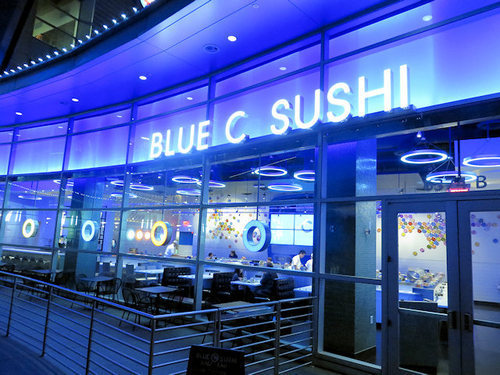 Blue C Sushi Restaurant Review A Rotating Bar Comes To Hollywood