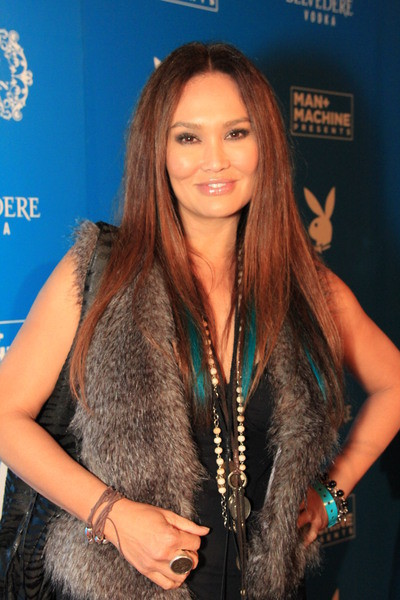 Tia Carrere At The Music Loves Fashion Grammy Celebration Draped In Chic Jewelry By Shannon Koszyk
