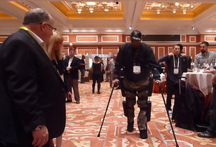 Paralyzed Man Walks at CES ShowStoppers Event - with Aid of Rewalk Robotics Evolving Technology