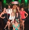 'VÉRONIC Voices' (Bally's) stopped by Caesars Palace Tuesday, August 6 -  to enjoy 'Absinthe.' In the attached photo, Véronic and the voicettes pose with 'Absinthe' host The Gazillionaire and his assistant, Penny Pibbets after the show.
