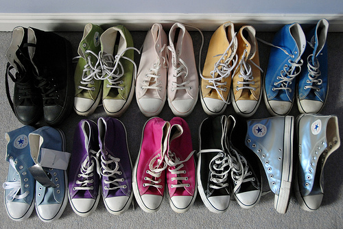 ... that Converse All Stars became more of a hipster craze, when the shoe was teamed with many different clothing styles that were in fashion at the time.