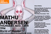 Mathu Andersen Opening November 13 - See the amazing works of a pre-eminent artist