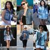 Celebrities Denim Jacket Fashion Trend