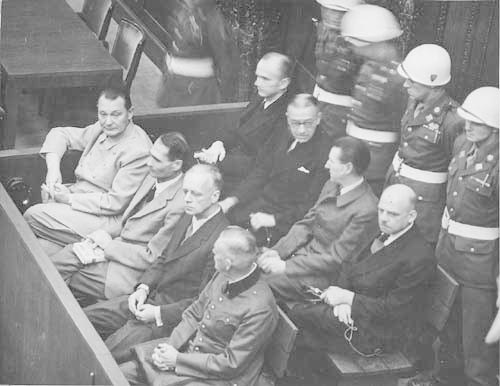 book review a small town in return of the nazis  goering hess von ribbentrop and keitel in front row at nuremberg trials circa 1946 wiki commons
