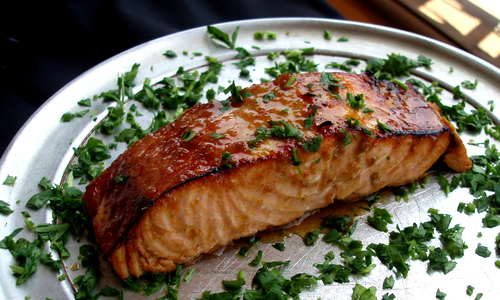 Fresh Sesame Glazed Salmon Another Calorie Conscious Stonefire Grill  Favorite