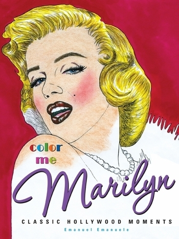 marilyn monroe coloring book with 64 original line drawings