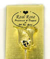 Real Long Stem Rose dipped in 24karat Pure Gold