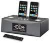 iP88 Dual Dock Alarm Clock Radio for iPhone & iPod