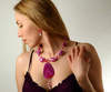 Flamingo Agate Necklace in Pink Fuchia