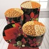The Popcorn Factory Holiday Poinsettia Popcorn Tins
