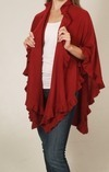 AprilMarin One Size Fits All City Ruffle Shawl