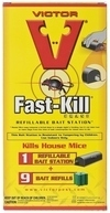 Victor Fast-Kill Refillable Bait Stations with Bait Blocks