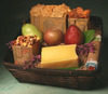 Organic Cheese Basket  -   All Natural Bamboo Hamper Filled with Organic Cheese, Fruit, and Snacks.