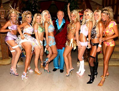 Too much of a good thing? Someone forgot to tell Hef.