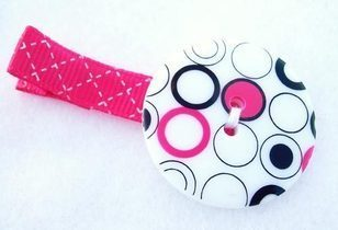Button Hair Clip by Snuggle Bug Kidz