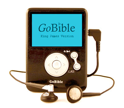 The Original GoBible - groundbreaking technology that fits in your pocket, available in NIV, King James and New King James versions