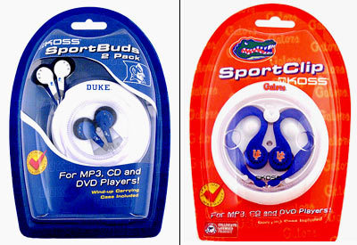 Duke University 2-Pack SportBuds & University of Florida SportClip
