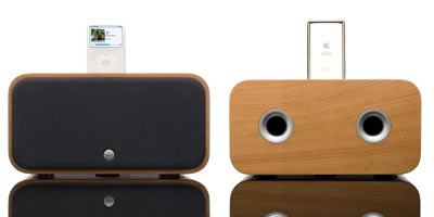 Vers 2x iPod and iPhone sound system - front and back