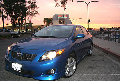 Toyota Corolla XRS at sunset