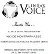 Kiki de Montparnasse Fashion Show to Honor Domestic Violence Awareness Month Benefiting Linda's Voice