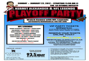 NFL Legends Playoff Party - NFL Playoff Party at Citadel Outlets
