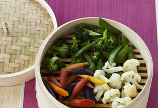 Celebrate Earth Day April 22 - Bamboo Steamed Veggies