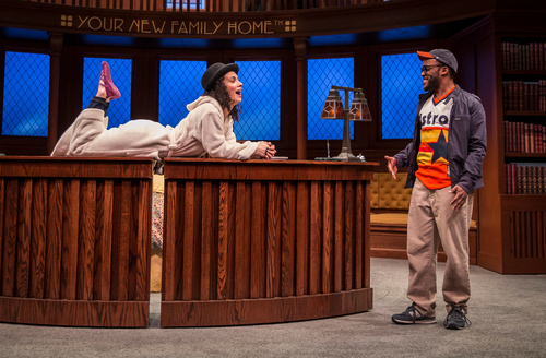 The upstairs concierge at the goodman theatre review a for Farcical behavior