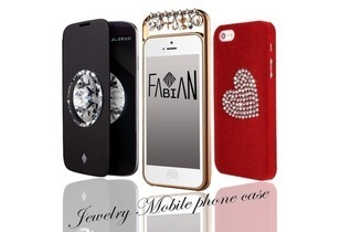 Jewelry design mobile phone case and accessories