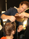 New York Fashion Week: Backstage Hair Update Badgley Mischka Fall/Winter 2013