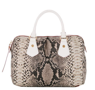 Snake with White Roma Leather - Ella