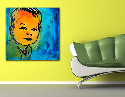 Gibson Art and Design hand painted portraits are a perfect gift for parents and family.