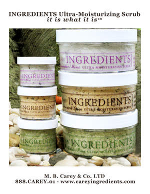 M.B. Carey & Co.'s Ingredients all natural scrubs
