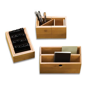 3 pc. Bamboo Desk Organization Set from DayTimers