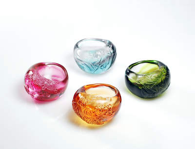 Tranqulity of Heaven & Earth Glass Bowls
