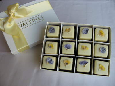 Pansy Petit Fours from Valerie Confections