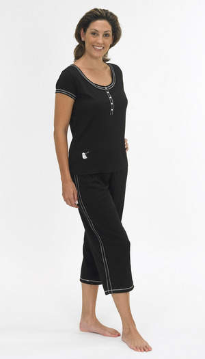 Capri pant / Henley Top Set
