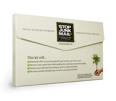 Regain control of your mailbox and help save the environment with the Stop Junk Mail Kit.