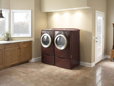 Whirlpool® brand Duet® Steam pair in Tuscan Chestnut