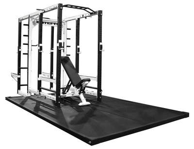 The collegiate rack is perfect for any personal training center, or collegiate or high school weight room.