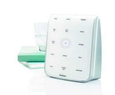 When peace and quiet is Mom's only desire, Tranquil Moments Sound Therapy System is the only answer. With 12 clinically proven sounds, including white noise, this sleep aid is ideal to help Mom relax, sleep and renew.