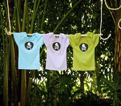 hip organic pirate binkie tee