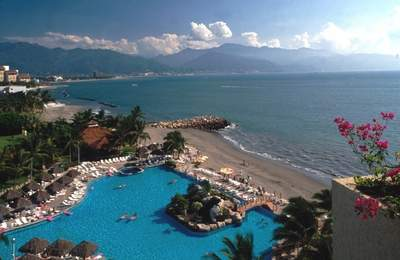 Aerial View of CasaMagna Marriott Puerto Vallarta Resort and Spa