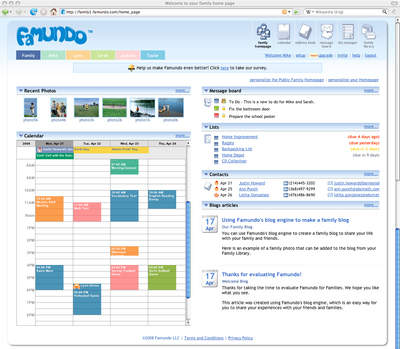 Famundo for Families homepage