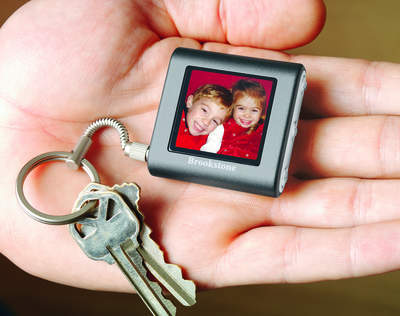 Our digital photo keychain holds over 60 full-color digital photos