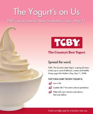 TCBY Mother's Day Giveaway Details
