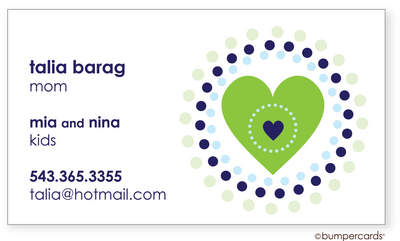 Hip Heart Green Calling Card